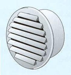 Grille de ventilation ronde avec moustiquaire sans clips for Porte avec grille de ventilation