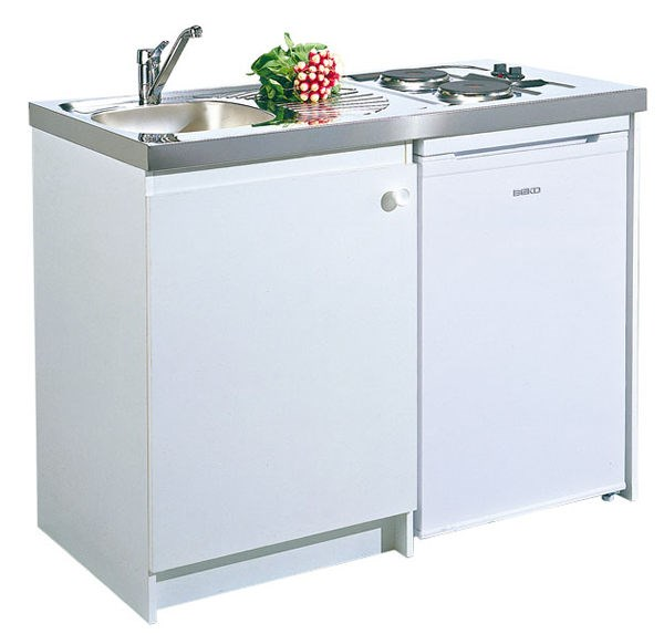 Kitchenette standard lectrique moderna for Meuble kitchenette