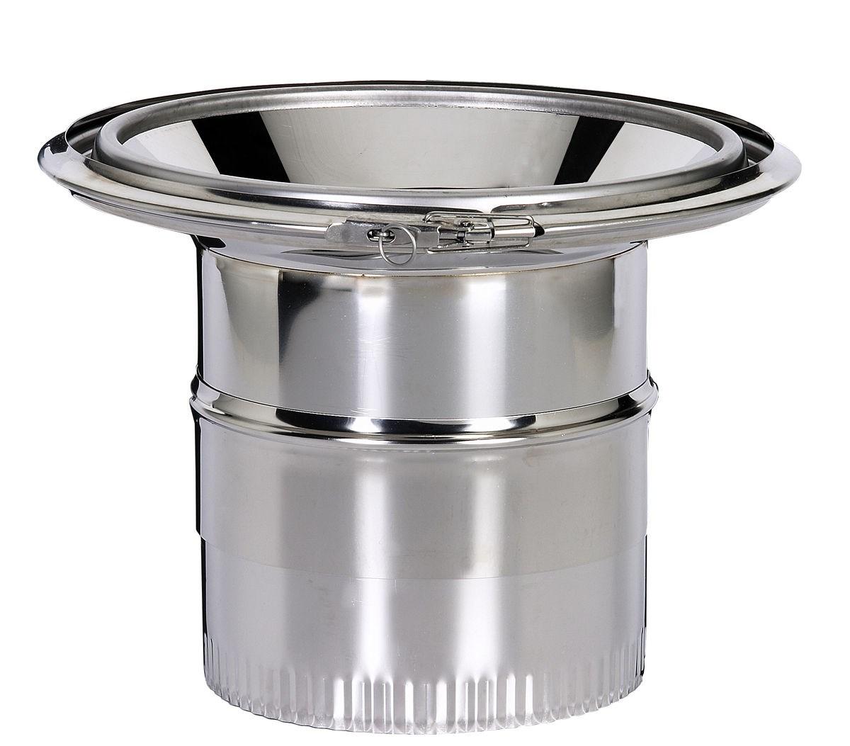 R duction pour fumisterie maill e poujoulat - Reducteur cheminee 200 150 ...