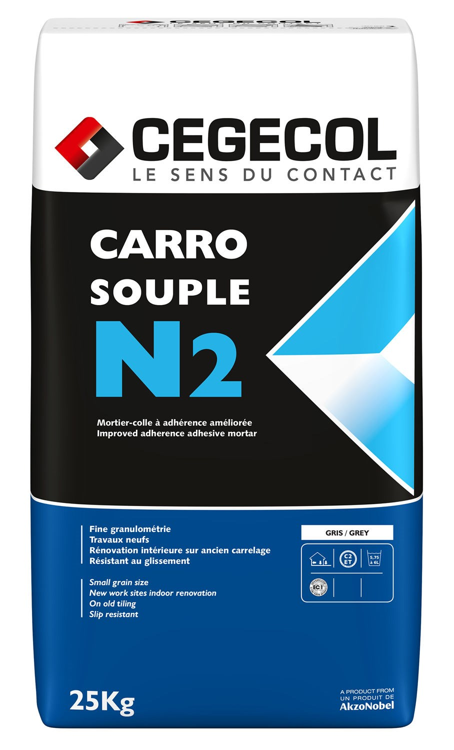 Carreau De Gironde Ancien mortier-colle pour carrelage (c2 et) carrosouple n2