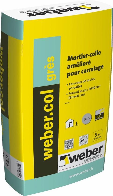 Carrelage design colle a carrelage weber moderne for Prix colle carrelage weber