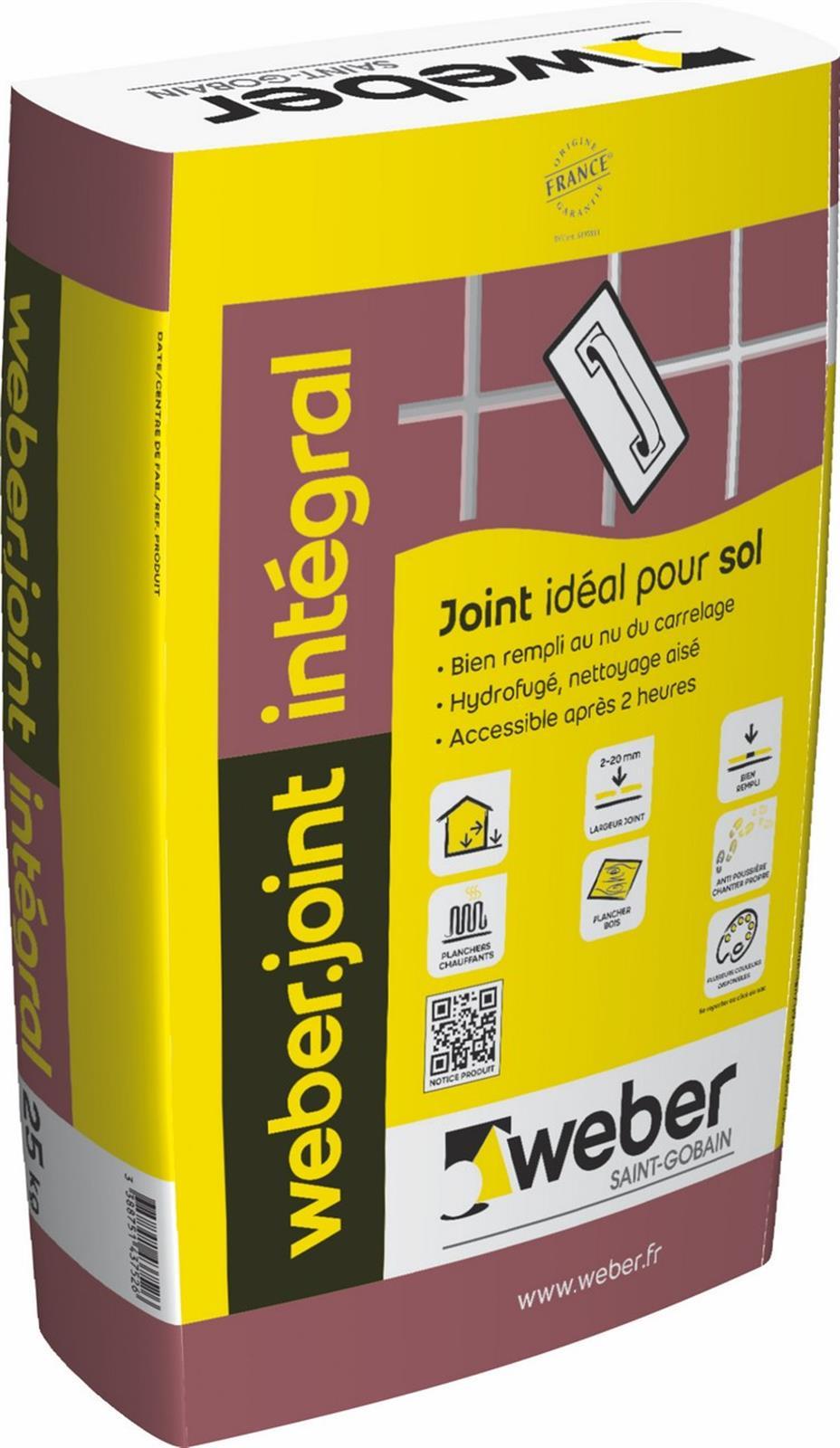 Mortier pour joints de carrelage weber joint integral weber - Outil pour retirer joint carrelage ...