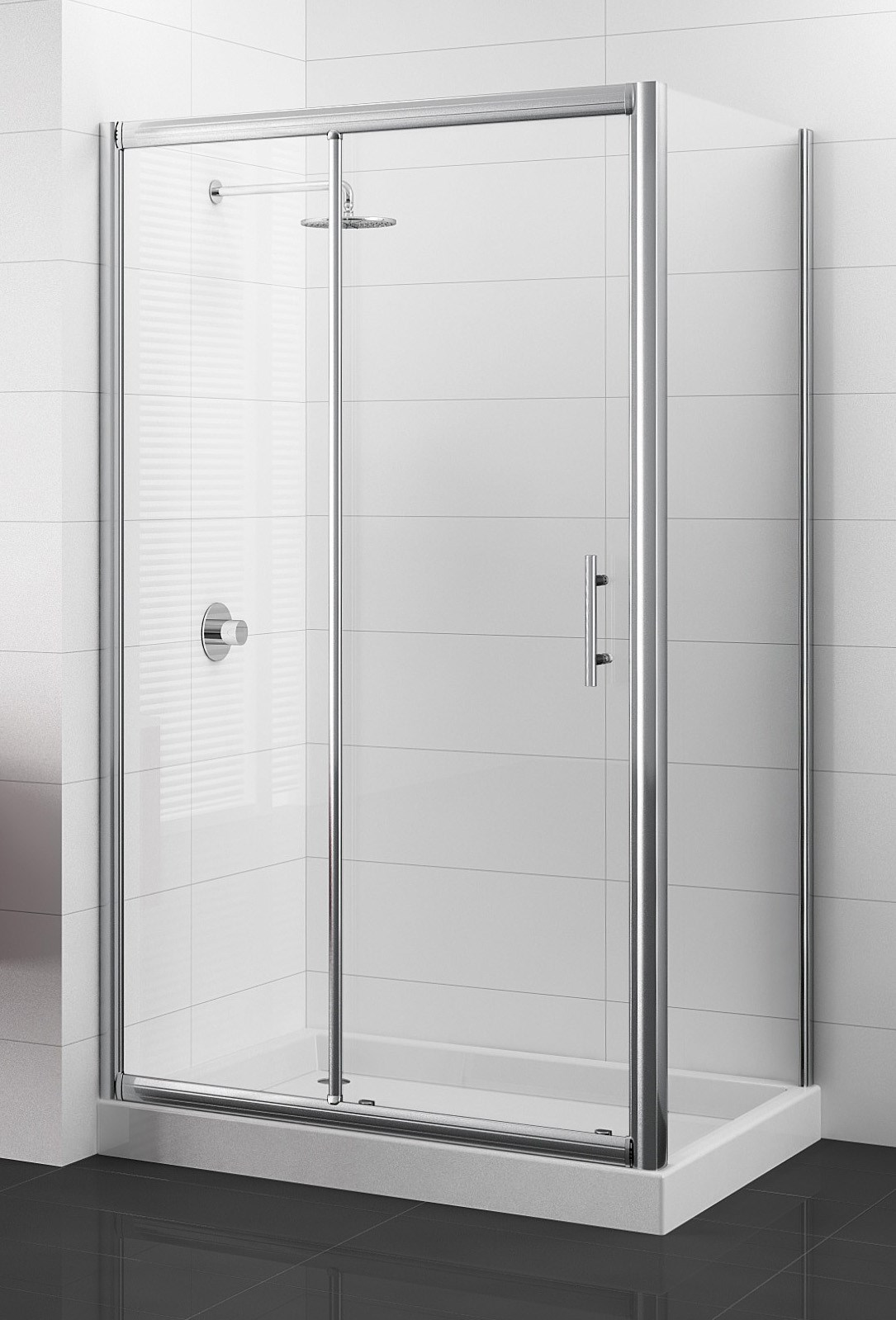 les parois de douche porte 2 panneaux dont 1 coulissant. Black Bedroom Furniture Sets. Home Design Ideas