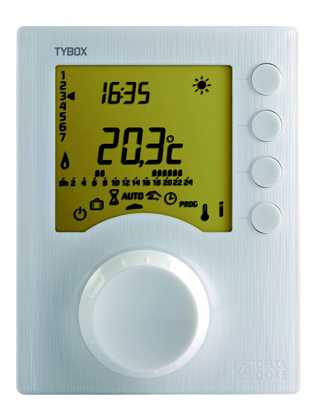 Thermostat programmable filaire 1 zone tybox delta dore - Thermostat d ambiance programmable filaire ...