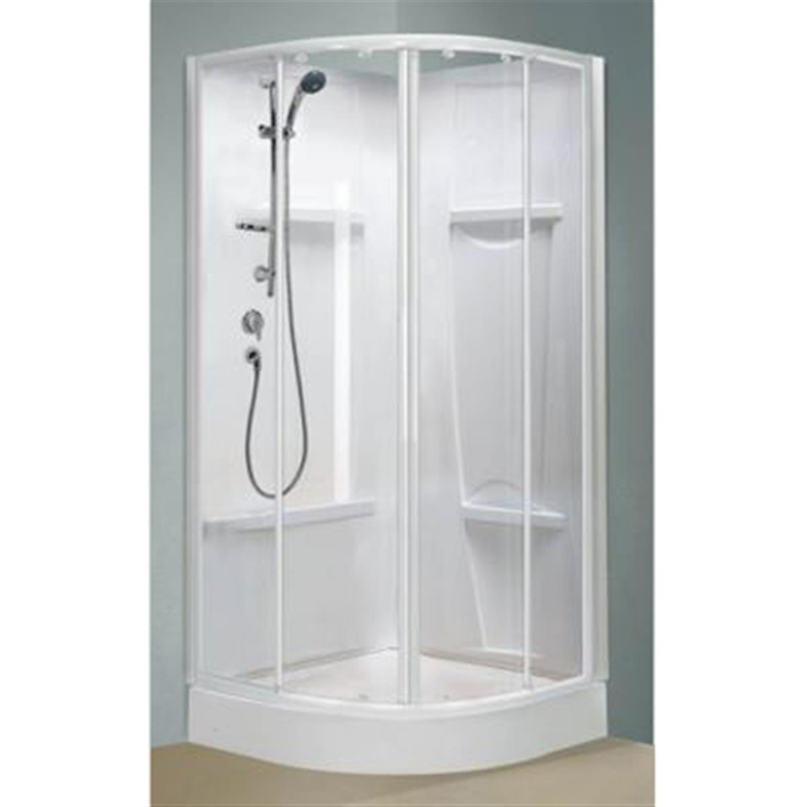 cabine de douche oceane 1 4 de rond alutrade. Black Bedroom Furniture Sets. Home Design Ideas