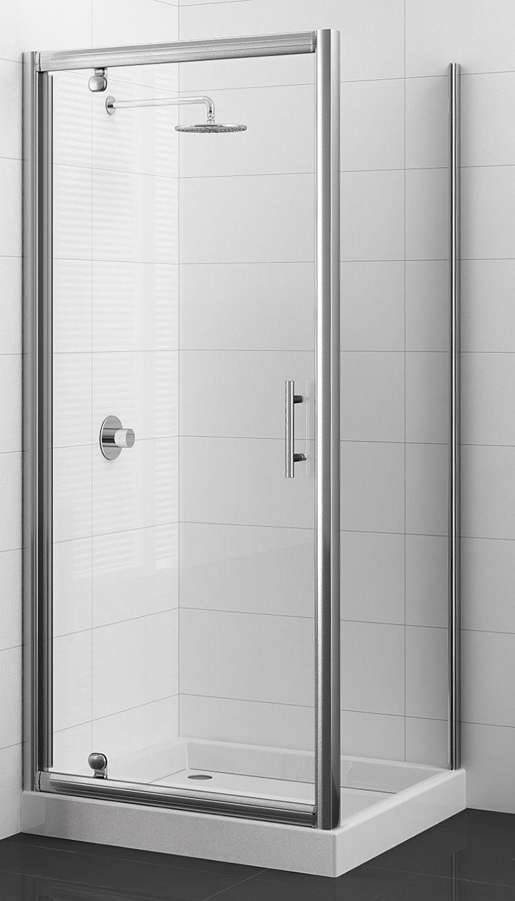 Porte pivotante cadree adesio nouvelle gamme sanitaire distribution - Paroi de douche pivotante ...