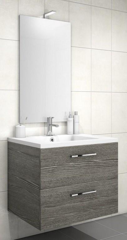Meuble sous vasque loft 2 tiroirs de 70 cm discac - Meuble salle de bain 70 cm largeur ...