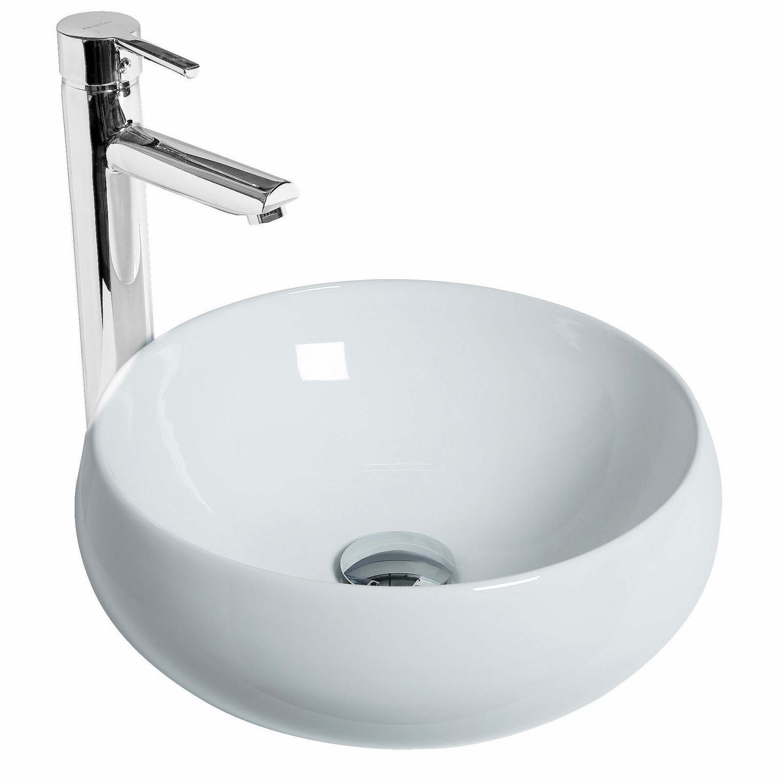 Vasque poser ronde galet discac for Vasque salle de bain a poser