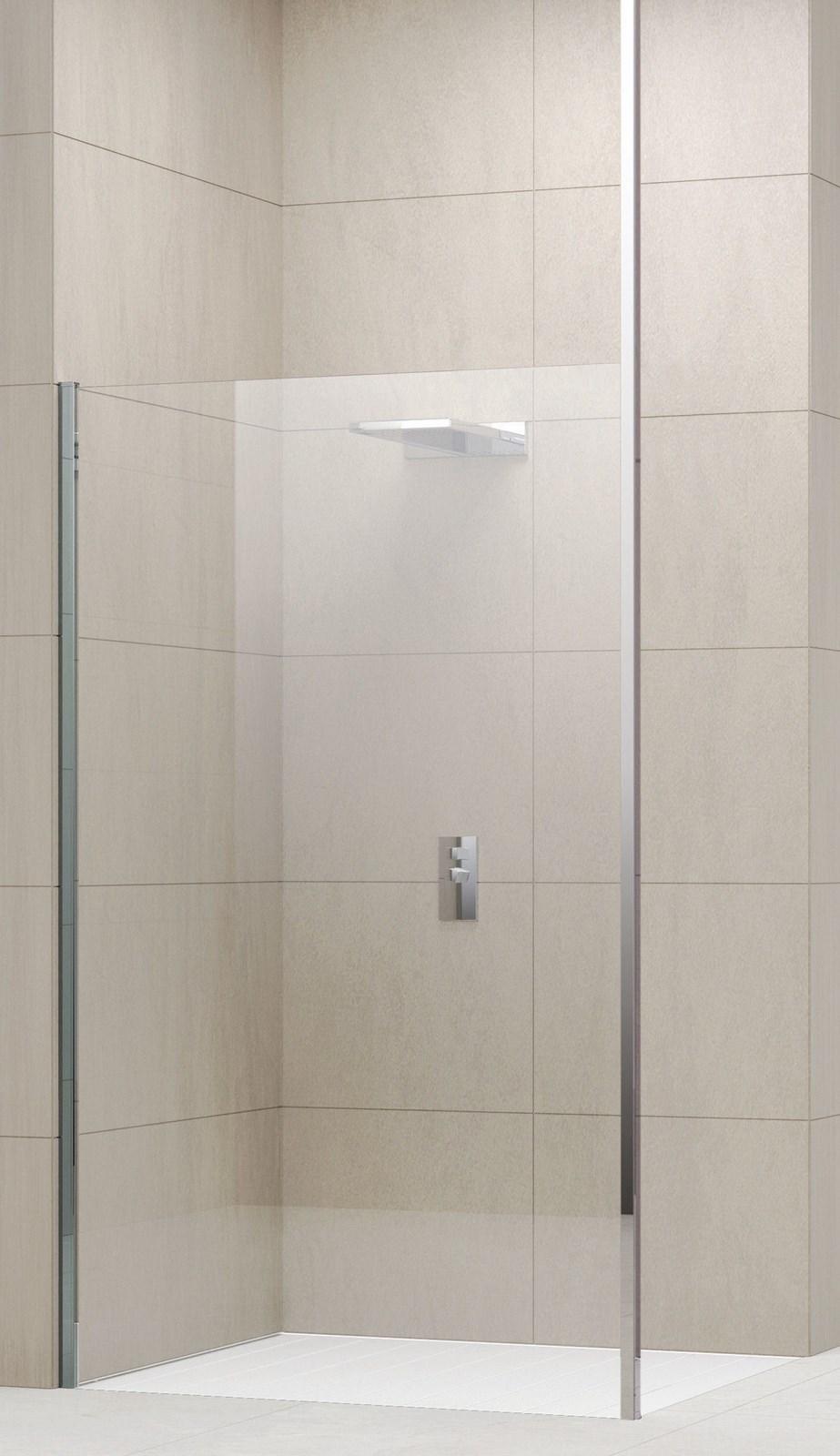 Profil de fixation au plafond pour verre 6 et 8 mm novellini for Fixation paroi de douche