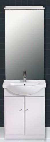 Meuble salle de bains avec miroir clairage tablette plan cramique et meubl - Meuble salle de bain avec miroir ...