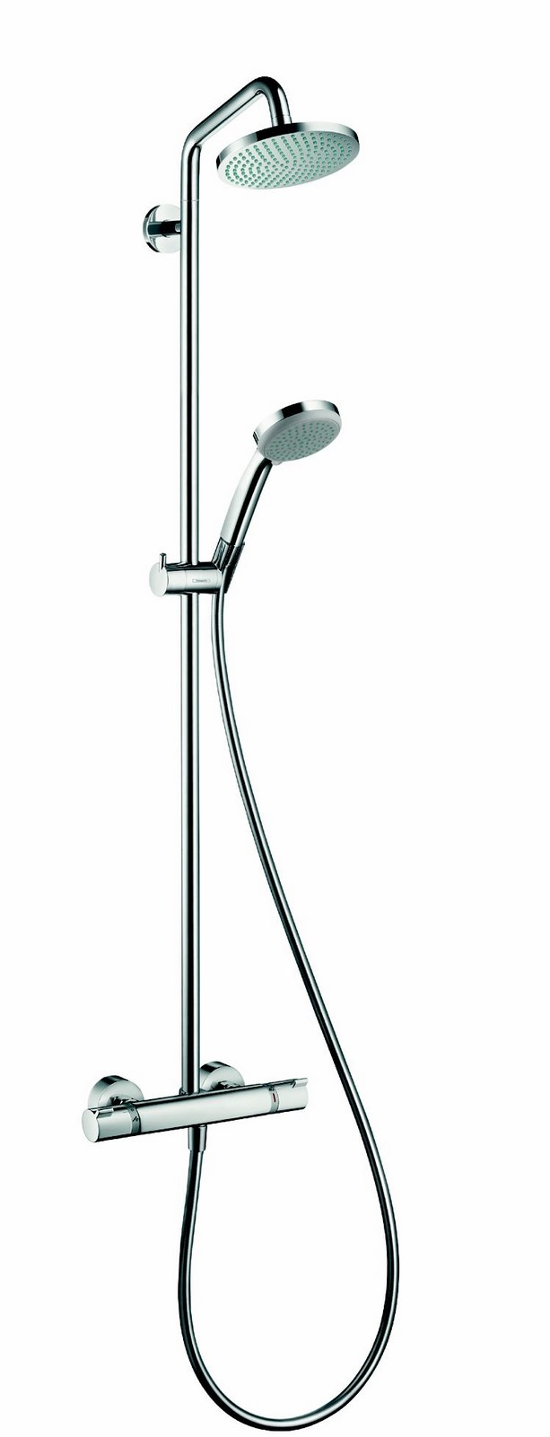 colonne de douche showerpipe croma 160 hansgrohe. Black Bedroom Furniture Sets. Home Design Ideas