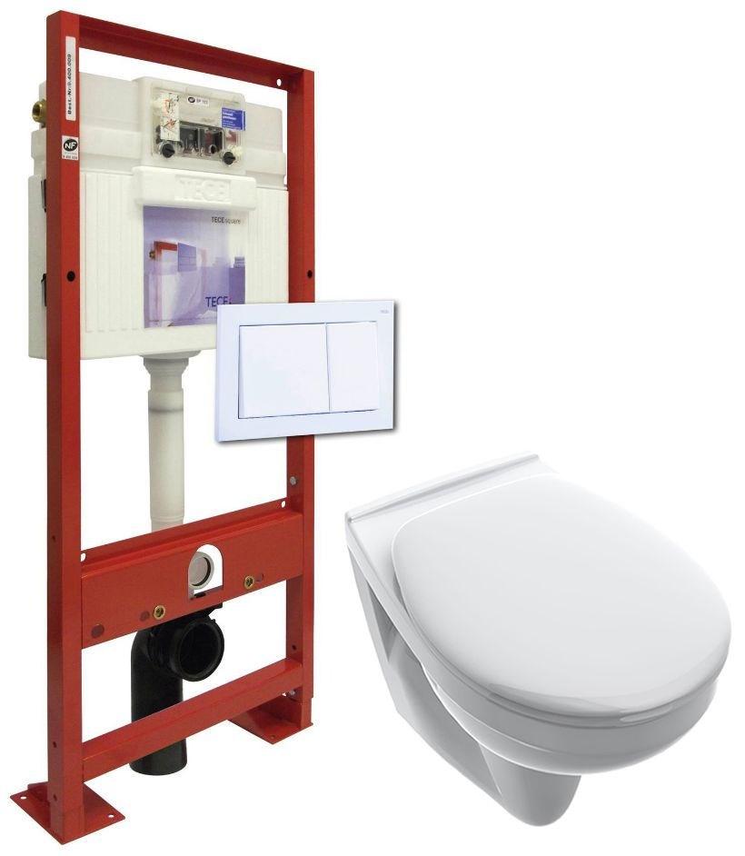 ensemble b ti support tece avec cuvette suspendue sanitaire distribution. Black Bedroom Furniture Sets. Home Design Ideas