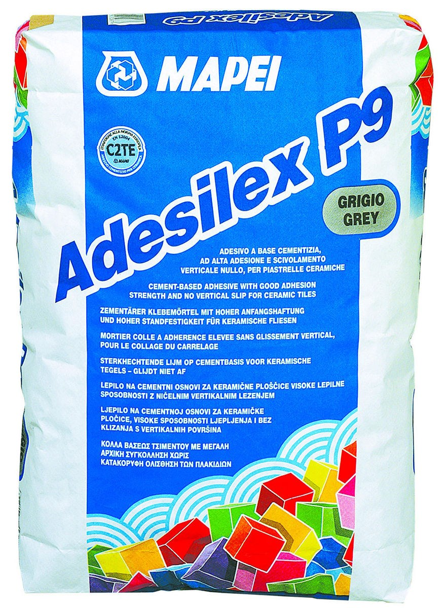 Mortier colle pour carrelage c2 adesilex p9 mapei for Carrelage sans joint ni colle
